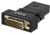 DVI 24+5 male to HDMI female Swivel Adaptor -- MDIC00004