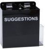 Brady Black Acrylic Lockable Top Opening Suggestion Box - 11 3/4 in Width - 12 in Height - 45660 -- 754476-45660 - Image