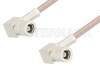 SMB Plug Right Angle to SMB Plug Right Angle Cable 24 Inch Length Using RG316-DS Coax, RoHS -- PE33476LF-24 -Image