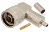 N Male Right Angle Connector Crimp/Solder Attachment for RG58 -- PE4485 -Image