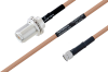 MIL-DTL-17 N Female Bulkhead to SMA Male Cable 12 Inch Length Using M17/128-RG400 Coax -- PE3M0076-12 -Image