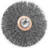 Knot Wire End Brush,SS,1 In D,1/4 Mt -- 6TNE3