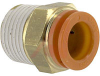 Connector, Pneumatics; 1/2 in.; 1/2 in.; 22.23 mm (Hex.); 9.6 mm (Min.); NTP -- 70070346 - Image