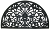 WROUGHT IRON RUBBER MAT - HALF ROUND -- 1681