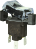 TP Series Rocker Switch, 1 pole, 2 position, Quick Connect terminal, Flush Panel Mounting -- 1TP910-3 -Image