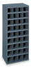 Stackable Bin Storage Unit,36 Bins, Gray -- 1XHK9