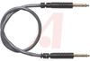 Plug Cable Assembly; Bantam; Brass (Plug); PVC; Black (Plug), Gray (Cable); PVC -- 70198118