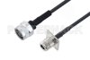 N Male to N Female 4 Hole Flange Low Loss Cable 150 cm Length Using LMR-195 Coax -- PE3W02012-150CM -Image