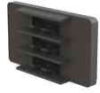 Fiber Clips - 3 Slot - 3mm -- EFA04-02-ASS -- View Larger Image