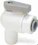 LIQUIfit Polypropylene Ball Valves -- VME - Valve Male Elbow