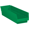 "17 7/8"" x 4 1/8"" x 4"" Green - Plastic Shelf Bin Boxes -- BINPS111G -- View Larger Image"
