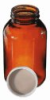 W216941 - Wheaton WM bottle with poly-vinyl liner, amber, 4 oz, 24/cs -- GO-34632-43