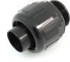 "Heyco 8406 Liquid Tight Fitting 1"" Thread Size, Straight Thru, Nylon, Black -- 27264 -- View Larger Image"