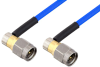 SMA Male Right Angle to SMA Male Right Angle Cable 12 Inch Length Using PE-086FLEX Coax , LF Solder -- PE3CA1041-12 -Image