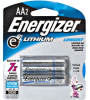 Energizer AA2 LITHIUM AA e2® Lithium Battery Retail Pack -- L91BP-2 - Image