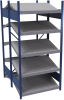 B-to-back open shelving, sloped shelves (standalone/series possible) -- SRD1T-EE751001B - Image