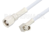 SMC Plug to SMC Plug Right Angle Cable 48 Inch Length Using RG188 Coax, RoHS -- PE3600LF-48 -Image
