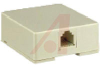 MODULAR SURFACE JACK, 4 CONDUCTOR, IVORY -- 70159812 -- View Larger Image