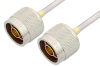 N Male to N Male Cable 12 Inch Length Using PE-SR402AL Coax -- PE34138-12 -Image