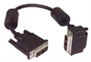 DVI-D Single Link LSZH DVI Cable Male / Male Right Angle, Bottom, 15.0 ft -- MDA00039-15F -Image