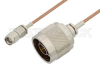 Reverse Polarity SMA Male to N Male Cable 24 Inch Length Using RG178 Coax, RoHS -- PE35223LF-24 -Image