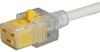VAC19KS, North America, V-Lock cord retaining, 3.0 m, Connector IEC C19, SJT 3x14 AWG, white