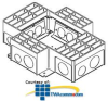 Legrand - Wiremold RFB4 Series Four-Compartment Floor Box.. -- RFB4-4DB
