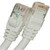 CAT5E 350MHZ ETHERNET PATCH CORD WHITE 25 FT SB -- 26-252-300 -Image