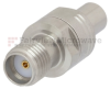 SMA Female (Jack) to SMP Male (Plug) Full Detent Adapter, Passivated Stainless Steel Body, 1.3 VSWR -- FMAD1006 - Image