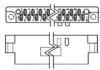 AMP-BLADE Two-Piece Printed Circuit Edge Connectors -- 3-582151-3 - Image