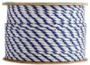 3 Strand White/White/BluePolypropylene Rope -- TWPBW080600 - Image