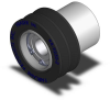 Finned Roller - Precision Sealed Bearing Mount - 20 Dur Neoprene - 2.00 in Dia X 0.92 in Wide -- RR-250-35-BPC