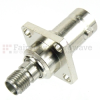 4 Hole Flange SMA Female (Jack) to BNC Female (Jack) Adapter, Hight Temp, 1.2 VSWR -- SM4708 - Image