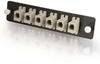 Q-Series? 6-Pack, MTRJ, MM/SM (12 Fibers) MTRJ Adapter Panel -- APL-QTR-S0