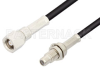 SMC Plug to SMC Jack Bulkhead Cable 72 Inch Length Using PE-B100 Coax -- PE34509LF-72 -Image