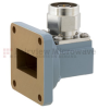 WR-102 to Type N Male Waveguide to Coax Adapter UG-1493/U Square Cover with 7 GHz to 11 GHz in Aluminum, Paint -- FMWCA1039 - Image