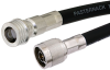 N Male to QN Male Cable 36 Inch Length Using RG213 Coax -- PE38450-36 -Image