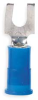 Fork Terminal,Blue,16 to 14 AWG,PK100 -- 5HE55