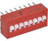 Switch, DIP; 0.880 in. L x 0.245 in. W x 0.380 in. H; 8; SPST; Thru-Hole -- 70216694 - Image