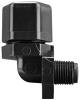 Fisnar 560748 Elbow Male Connector Black 0.25 in NPT, 0.25 in Tube -- 560748-BLACK -- View Larger Image