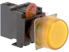 Indicator, Pilot Switch;Yellow;120VAC/VDC;Panel;1 to 5mm;34mm -- 70180040 - Image