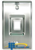 ICC Wall Plate, Phone, Recessed 1-Port, Stainless Steel -- IC107FRWSS