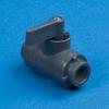 SMC Black Polypropylene Two-Way Ball Valves - 226 Series -- 22272