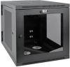 SmartRack 12U Server-Depth Wall-Mount Rack Enclosure Cabinet with Clear Acrylic Window, Hinged Back -- SRW12US33G -- View Larger Image