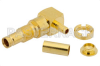 1.0/2.3 Jack Right Angle Bulkhead Connector Crimp/Solder Attachment For RG174, RG316, RG188, .236 inch DD Hole -- PE44261 - Image