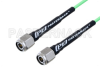 TNC Male to TNC Male Low Loss Cable 100 CM Length Using PE-P160LL Coax -- PE3C5249-100CM -Image