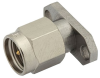 SMA Male Field Replaceable Connector With EMI Gasket 2 Hole Flange Mount .012 inch Pin -- PE44028