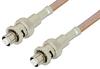 SHV Plug to SHV Plug Cable 60 Inch Length Using RG400 Coax, RoHS -- PE34424LF-60 -Image