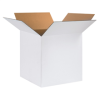 "24"" x 24"" x 24"" - White Corrugated Boxes -- 242424W"