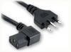 CEI 23-16 ITALIAN to IEC-60320-C13 RIGHT ANGLE HOME • Power Cords • International Power Cords • Italy Power Cords -- 8553.098 -Image